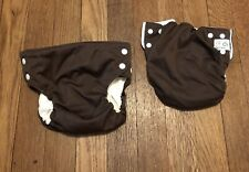 New Listing2 Brown Bottombumpers Cloth Diapers all in one cotton