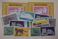 GREAT BRITAIN LOCAL POST STROMA CATS 2 SHEETLETS IMPERF plus 31 STAMPS MINT NH