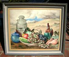 Exquisite Frode Dann 1892-1984 Outdoor Still Life Watercolor Painting