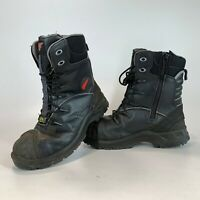 Red Wing 3207 Men's Zip Safety Boots - UK 7 Steel Toe ideal Motorcycle Boots VGC