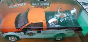 Maisto Custom Ford F150 + 1958 Harley Diecast Car 1:24