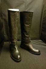 NWB~ MaxGreat ~US 6~ BLACK Leather BUCKLE STRAP Tall PULL ON RIDING BOOTS
