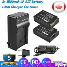 2x 1500mah LP-E17 Battery+USB Charger for Canon Rebel SL2 T6s EOS M3 760D 8000D