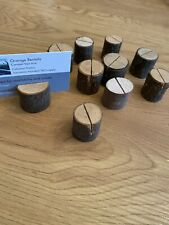10 X Wooden Log Name Place Holders Wedding Table Venue Accessories