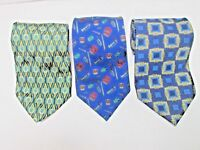 LOT of 3 BURBERRY PAOLO Designs by GUCCI made in ITALY 100% Silk Ties