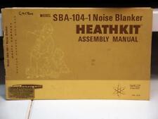 Heathkit sba-104 ruido blanker montaje manual