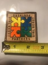 """GIRL SCOUTS Partners Patch 2.5"""" x 2.5"""" New"""