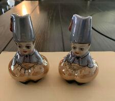 Noritake Deco Lustre Figural Salt Shakers Fez Boys