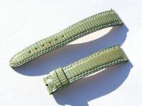 16mm Chopard Uhren Armband Ersatzband Lederarmband Croco grün 70/105 I114