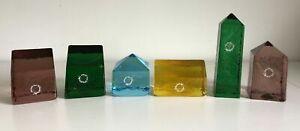 Lotto set 6 casette vetro VINCENZO NASON & C. MURANO fermacarte multicolore rare