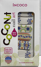 Incoco Case Verano Coconut Nail Art New 12 Double Ended Strips