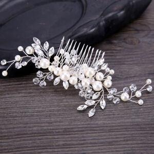 Bride Bridal Hair Comb Pearl Rhinestone Wedding Hair Piece Hair Accessories