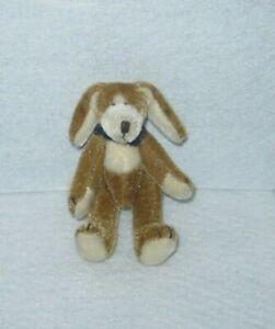 Boyd's Bears - T. F. Wuzzies - Toby F. Wuzzie - Tan & White Dog with Bandana