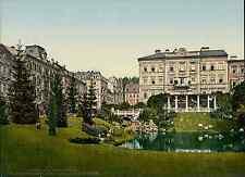 Böhmen. Marienbad. Neue Gartenanlagen und Kaiserstrasse.  vintage photochrom fro