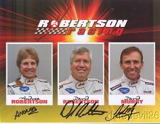 2008 Robertson Racing signed Ford GT-R GT2 Sebring Petit Le Mans ALMS postcard