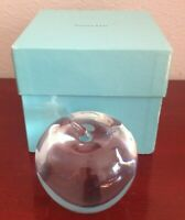 COLLECTIBLE TIFFANY & CO APPLE CRYSTAL FIGURINE. W/BOX. MADE IN GERMANY