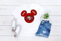 Disney Mickey Mouse San Francisco 49ers Football Unisex T-Shirt - Niners Shirts