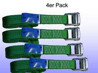 4er Pack Spanngurt, Zurrgurt mit Klemmschloss Grün 35 mm 800 daN L= 2 m