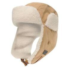 BNWT Firetrap Trapper Hat Beanie Faux Fur Padded Cap Brown Retro Winter Ski Snow