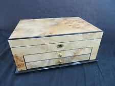 Pavia:Womens Three Tier Jewelry Box, Beautiful, Majestic, High Quality, Spacious