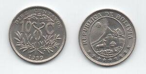 Bolivia 10 Centavos 1939 CuNi  KM  179.2  aUNC