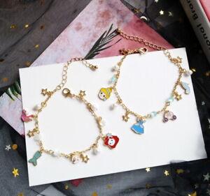 Princess Charm Bracelet Girls Children Christmas Cute  + GIFT BOX
