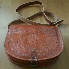 Moroccan leather satchel shoulder bag / cross body handmade BROWN