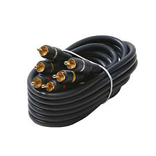 Eagle 75' FT Python 3 RCA Male to 3 RCA Male Composite Cable Gold Plate Connecto