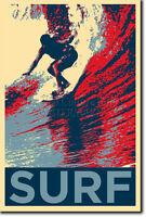 SURFING ART PHOTO PRINT (OBAMA HOPE) POSTER GIFT SURF WAVES