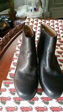 E 360 Easy Spirit women's size black leather boots soft sole comfort zip up sz11