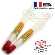 2 Seringues Pâte thermique silicone blanche  Processeur Cpu Gpu