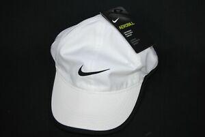 Nike Featherlight Dri-Fit Aerobill White Running Hat (679424-010) Women's