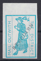 1971 STRIKE MAIL MAIL OUTWITH THE DISTRICT POSTAL SERVICE 4/- SPECIMEN STAMP a