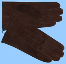 NEW MENS size 8 or Small BROWN PIG SUEDE LEATHER UNLINED GLOVES shade10535