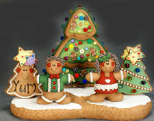 Ceramic Bisque Ready to Paint Gingerbread Scene ~ 3 Village Light Kit included