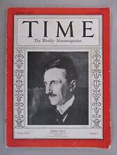 Time Magazine - July 20, 1931 ~~ Nikola Tesla