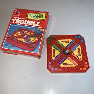 Vintage 1989 Milton Bradley Trouble Pop O Matic Travel Mini Game