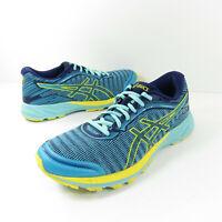 ASICS 'DynaFlyte' T6F8Y Blue Yellow Running Shoes Women's Sz. 9 gel FlyteFoam