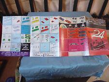 ancien papier brochure dépliant pub publicité jeu voiture de course CIRCUIT 24