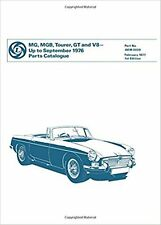 MG MGB Tourer, GT and V8 Parts Catalogue Part No. Akm0039 book paper