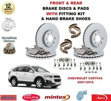FOR CHEVROLET CAPTIVA FRONT & REAR DISCS PADS HAND BRAKE SHOES & FITTING KIT