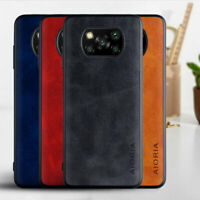 Case for Xiaomi Poco X3 NFC Luxury leather case cover skin Black blue orange red