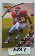 Tony Gonzalez RC  101 1997 Tight End KC Chiefs Bowman Best Card
