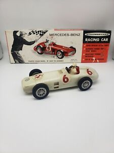 """Vintage Strombecker Mercedes Benz Indy slot car 1/24 scale Car """"6 Rare with Box"""