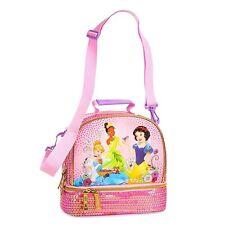 Authentic Disney Princess Kids Lunch Tote Bag Pink Cinderella Snow White Tiana