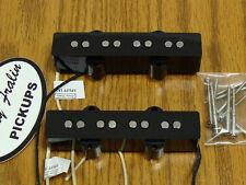 NEW Lindy Fralin Split Jazz Bass PICKUP SET Black for Fender J Bass