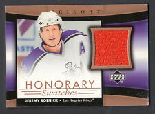Jeremy Roenick 2005-06 UD Trilogy Honorary Swatches Game Worn Jersey Card