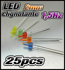 440D# LED 5mm clignotante 25 jaune diffusant dispo 10 ou 100pcs 1,5Hz