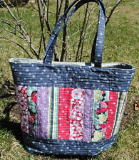 Large Tote Bag Pattern, Quilted Tote, Sewing Pattern, Mary Elizabeth Bag