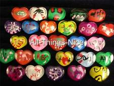 Party Bag Filler Kids Children LUCITE HEART Mix Size Rings Fashion Jewellery 50